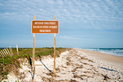 Beach Access at Canaveral National Seashore Royalty Free Stock Photography
