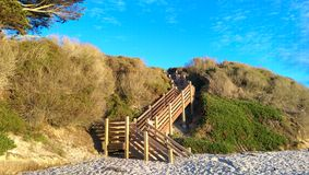 Beach Access. Carmel Beach provides gorgeous views of the land, sea and sky Royalty Free Stock Photography