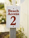 Beach Access Sign. Royalty Free Stock Photography