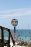 Beach access sign on St. Pete Beach, Florida Royalty Free Stock Image