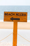 Beach access sign Royalty Free Stock Images
