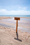 Beach access sign Royalty Free Stock Image
