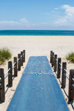 Beach Access Walkway. In Ft. Lauderdale Florida Royalty Free Stock Photography