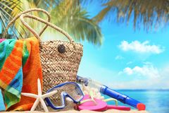 Beach Accessories Stock Image