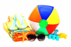 Beach accessories Stock Photography
