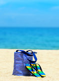 Beach accessories. Concept of summer vacations Royalty Free Stock Images
