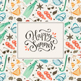 Beach accessories  pattern Royalty Free Stock Photos