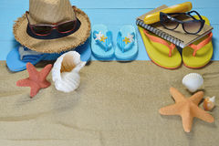 Beach accessories Royalty Free Stock Photo