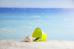 Beach accessories, summer vacation background Stock Image