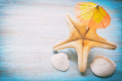 Beach accessories in the summer Stock Image