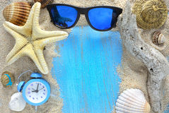 Beach accessories in the summer Stock Photo