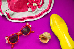 Beach accessories Royalty Free Stock Photography