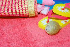 Beach Accessories by Water Royalty Free Stock Image