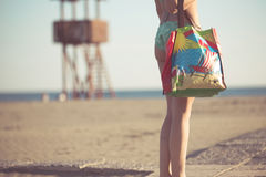 Beach accessory.Going to the sandy beach vacation.Summer beach fashion style starter kit Stock Photography