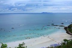 Beach activities of island. Beach boat cloud holiday island thailand Stock Photography