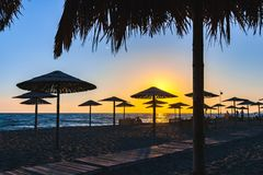 Beach on Ada Bojana, Ulcinj, Montenegro stock photos