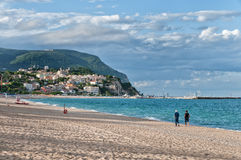 Beach in Adriatic Riviera Stock Image