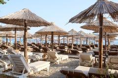 The beach of an Adriatic sea in Budva, Montenegro Stock Photos