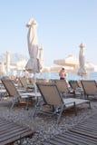The beach of an Adriatic sea in Budva Royalty Free Stock Photos