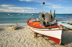 Beach at the Aegean Sea. Greece royalty free stock photos
