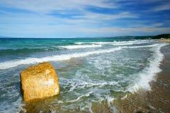 Beach at the Aegean Sea stock image