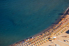 Beach aerial view Stock Images