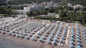 Beach aerial view stock video footage