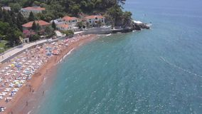 Beach aerial view stock footage