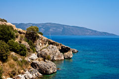 Beach of Agia Efimia, Cephalonia Royalty Free Stock Photos
