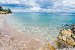 Beach of Agios Ioannis Peristeron, Corfu Royalty Free Stock Images