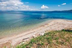 Beach of Agios Ioannis Peristeron, Corfu, Kerkyra. Stock Images