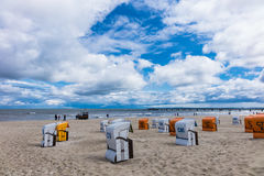 The beach in Ahlbeck on the island Usedom Stock Images