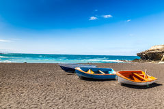 Beach In Ajuy,Fuerteventura, Canary Islands, Spain Royalty Free Stock Photo