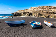 Beach In Ajuy,Fuerteventura, Canary Islands, Spain Royalty Free Stock Photos