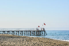 The beach in Alanya Stock Image