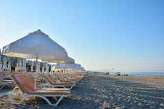 The beach in Alanya Stock Photography