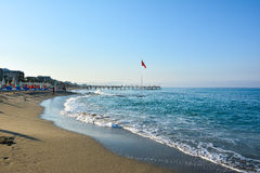 The beach in Alanya Stock Images