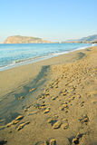 The beach in Alanya Royalty Free Stock Image