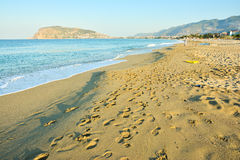 The beach in Alanya Stock Photo
