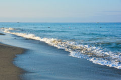 The beach in Alanya Royalty Free Stock Photography