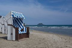 The beach of Alassio Stock Images