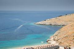 Beach of Albanian sea Stock Photo