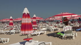 The beach in Albena. Resort Spa in Bulgaria. The beach in Albena. Resort Spa in Bulgaria stock video