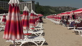 The beach in Albena. Resort Spa in Bulgaria. stock footage