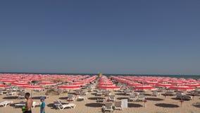 The beach in Albena. Resort Spa in Bulgaria. 4K. stock video