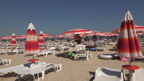 The beach in Albena. Resort Spa in Bulgaria. 4K. stock video footage