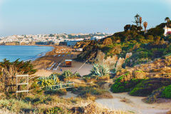 Beach in Albufeira Royalty Free Stock Image