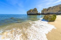 Beach in Albufeira, Portugal Stock Photos