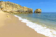 Beach in Albufeira, Portugal Stock Images