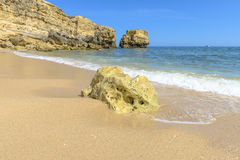 Beach in Albufeira, Portugal Royalty Free Stock Photo